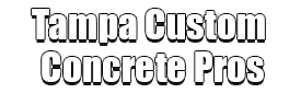 Tampa Custom Concrete Pros Logo-We offer custom concrete solutions, Polished concrete, Stained concrete, Epoxy Floor, Sealed concrete, Stamped concrete, Concrete overlay, Concrete countertops, Concrete summer kitchens, Driveway repairs, Concrete pool water falls, and more